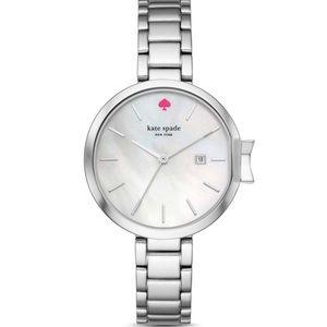 NWT Kate Spade Silver Park Row Watch, 34mm